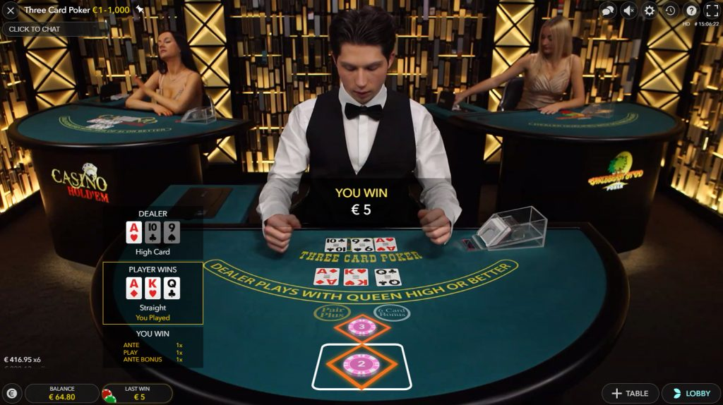 Three Card Poker evolution