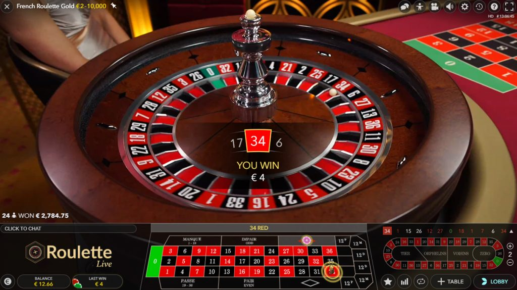 evolution live french roulette