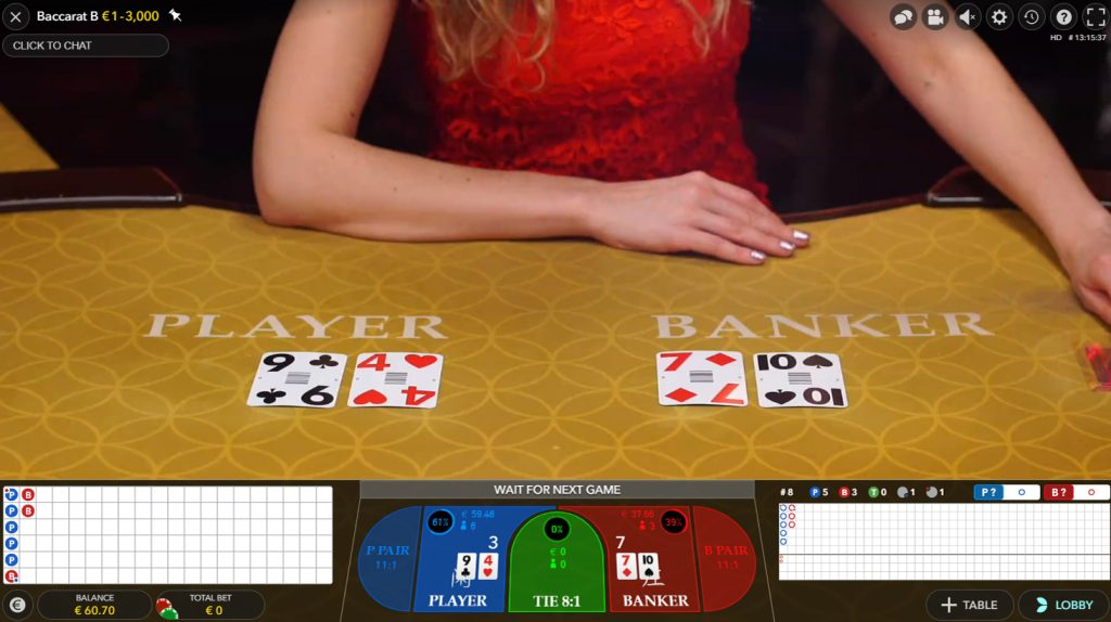 Live Baccarat   Evolution   How to Play   Live Casinos