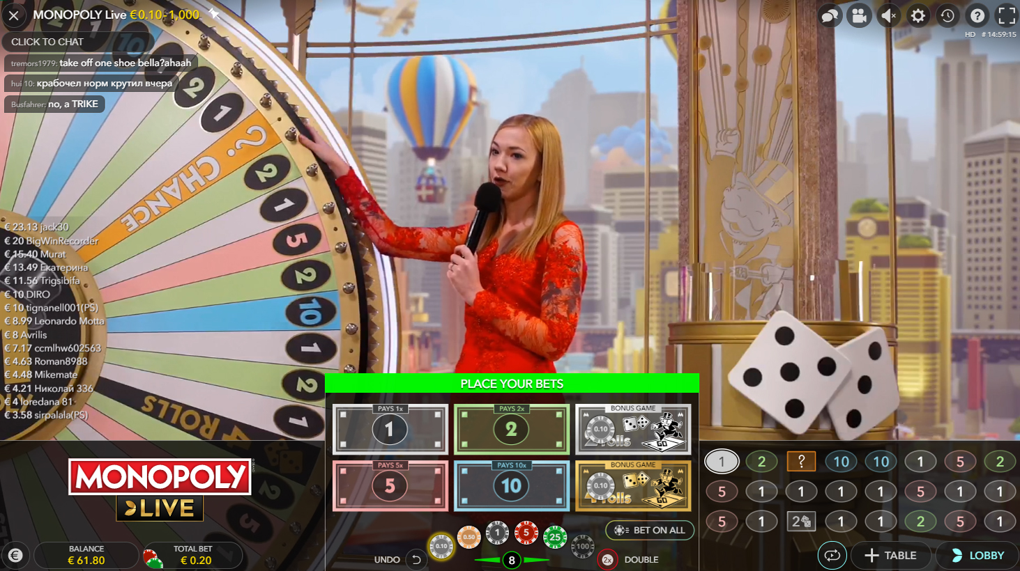 monopoly live evolution