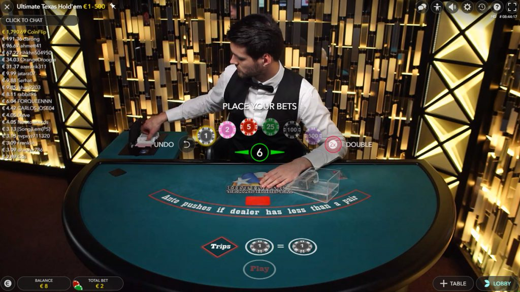 Ultimate Texas Hold'em evolution gaming