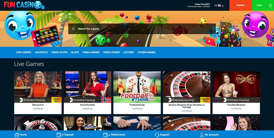 fun casino live casino