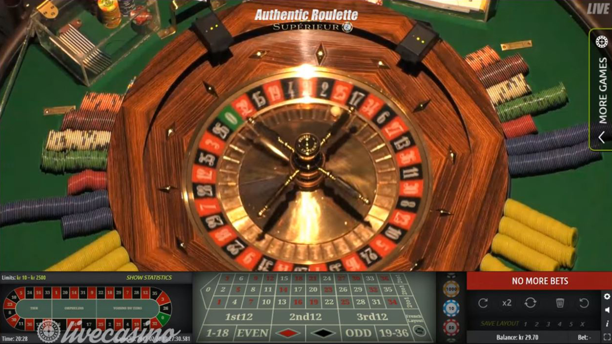 Authentic Gaming Roulette Superieur Demo 2