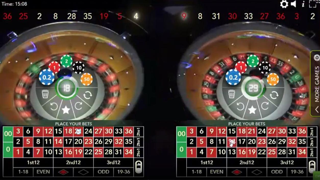 Authentic Roulette Double Wheel demo1