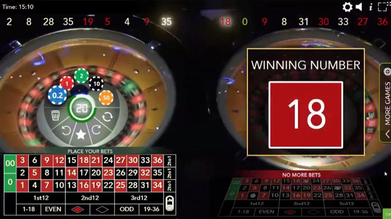 Authentic Roulette Double Wheel demo3