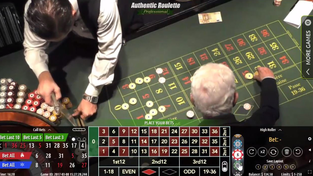 Authentic Roulette Professional Demo1