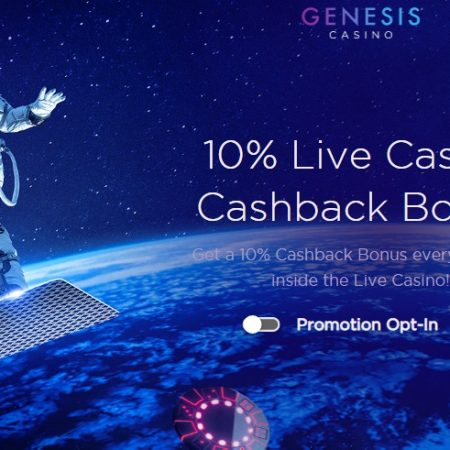 Grab a 10% Cashback on Live Casino Games at Genesis Casino!