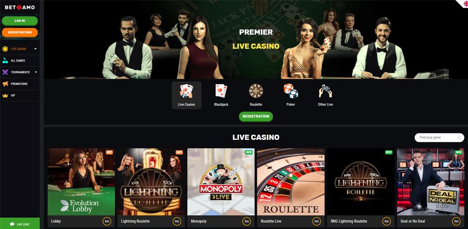 betamo live casino spellen