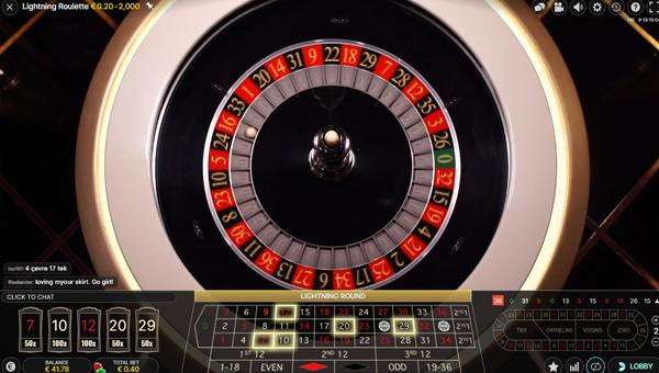 hoe speel je lightning roulette