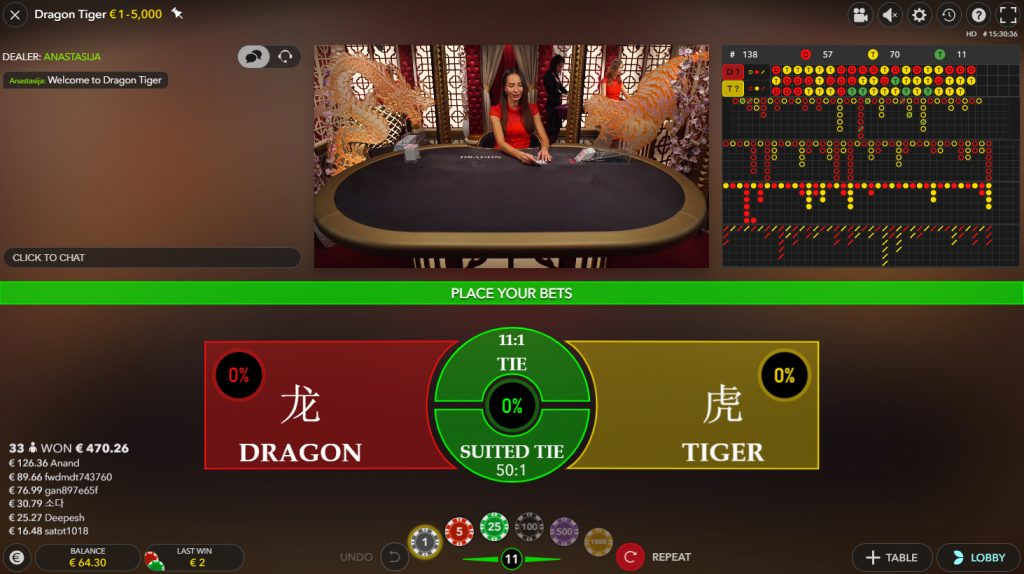live dragon tiger evolution gaminggaming spiele