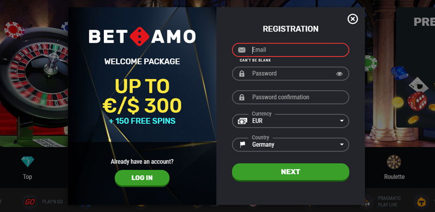 registreren bij een live casino