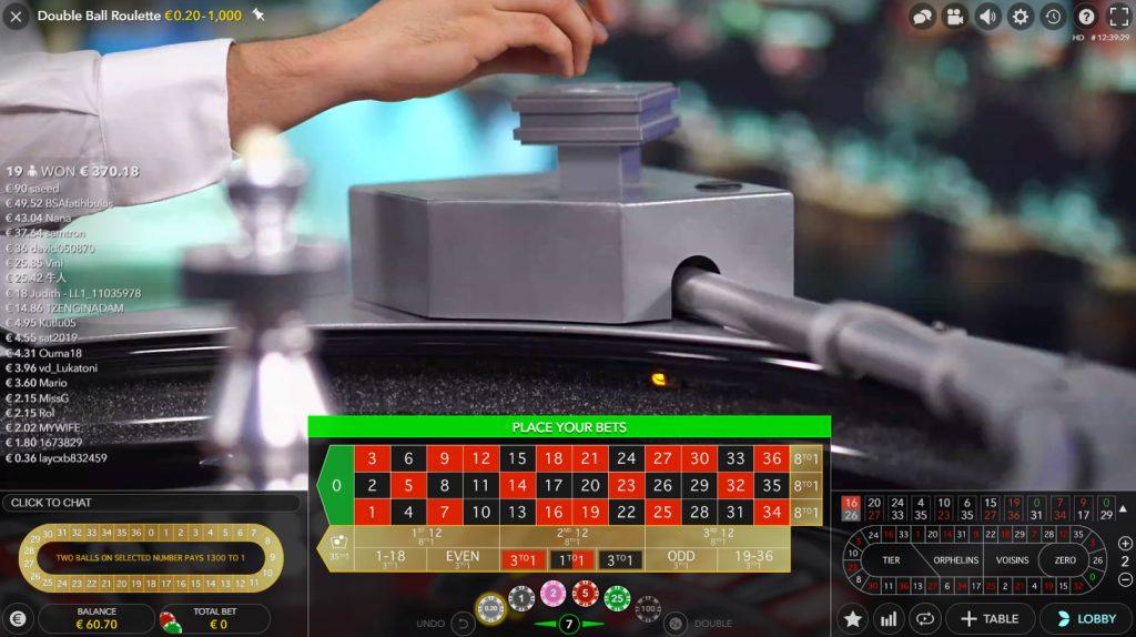 Double ball roulette bildschirmfoto
