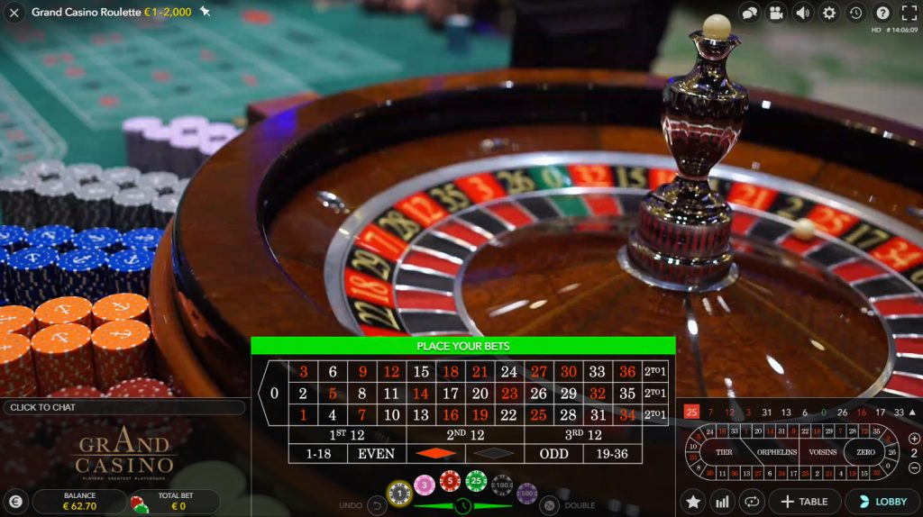 Dual Play roulette live casino