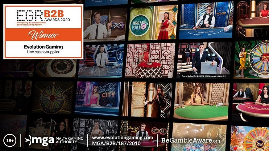 Evolution Gaming Awarded Live Casino Supplier of the Year at the EGR Once Again!