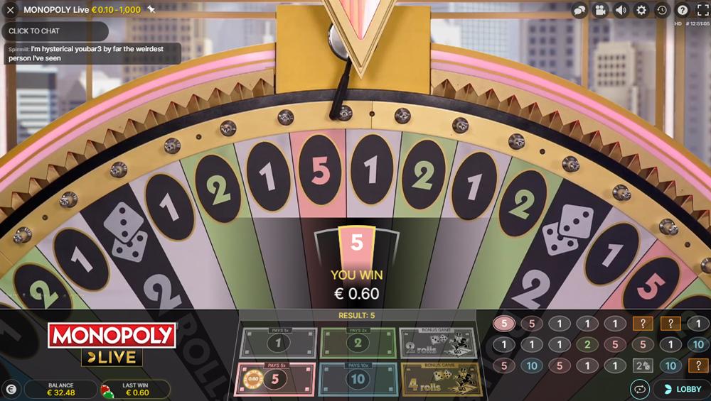 Monopoly Live Bildschirmfoto