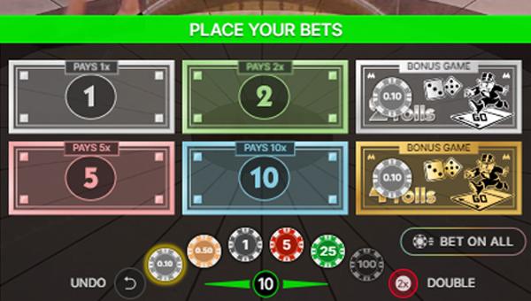Platzieren Sie Wetten bei Monopoly live