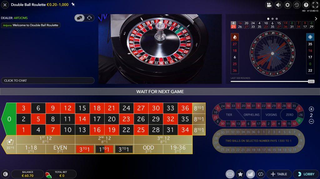 bildschirmfoto double ball roulette