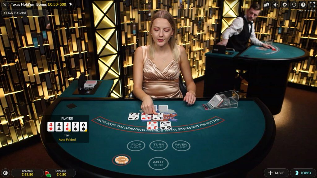 texas bonus poker live casino