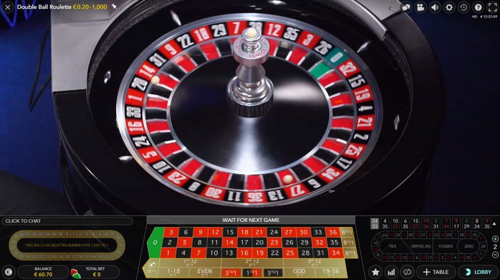 evolution gaming double ball roulette spiele