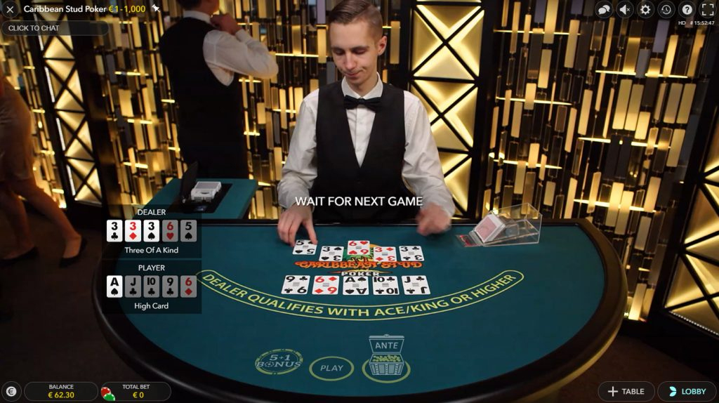 live caribbean stud poker bildschirmfoto
