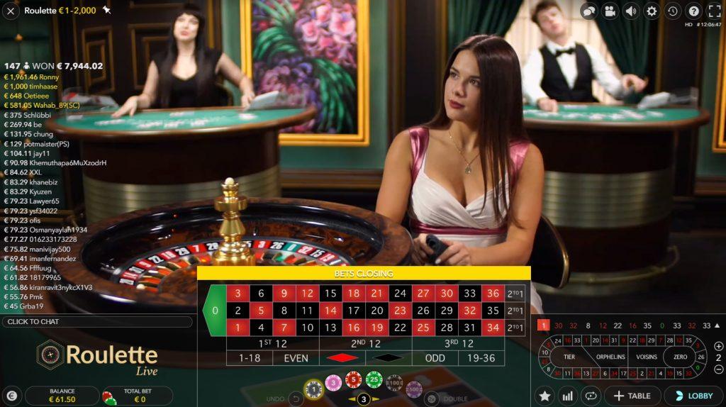 live european roulette evolution gaming
