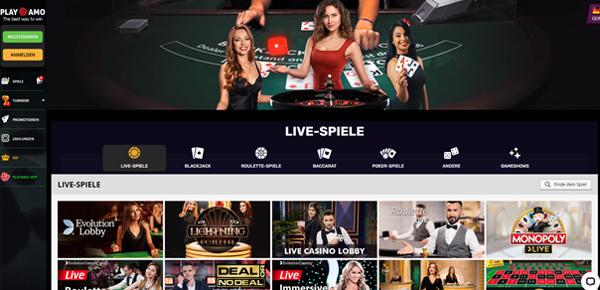 Playamo Live Casino Spiele