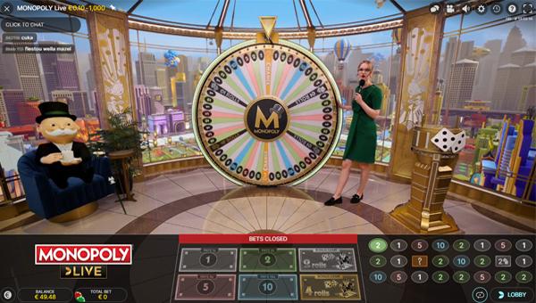 estudio de Monopoly Live