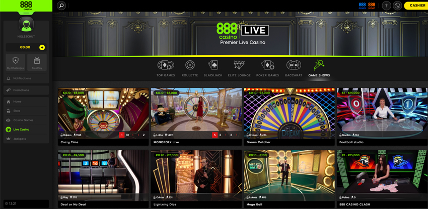 live casino games and software
