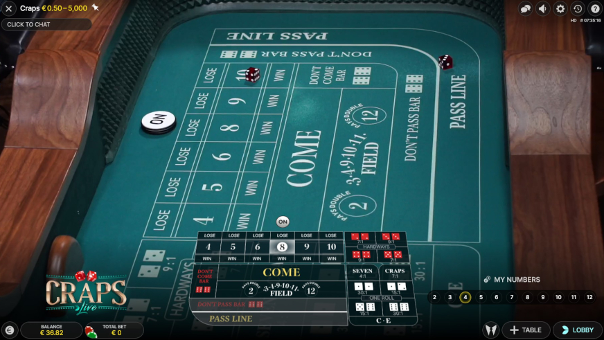 Craps Live Bet Types Explained