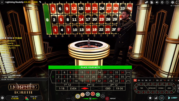 Lighting roulette casino en direct