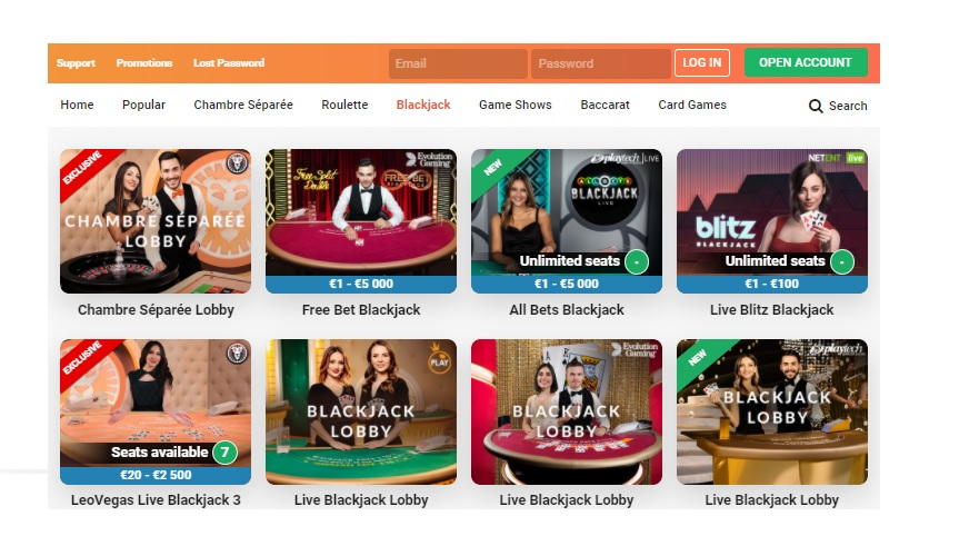Playtech's Live Casino Games Added to LeoVegas Casino's Collection