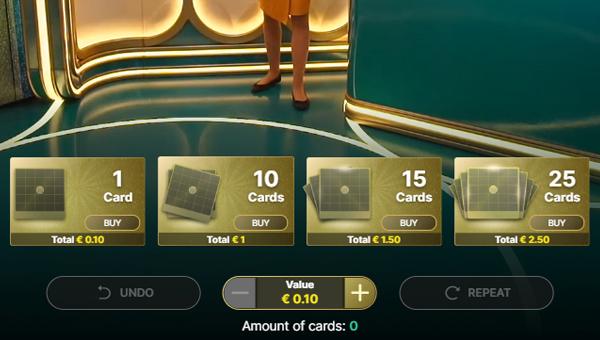 Valor de le tarjeta Mega Ball