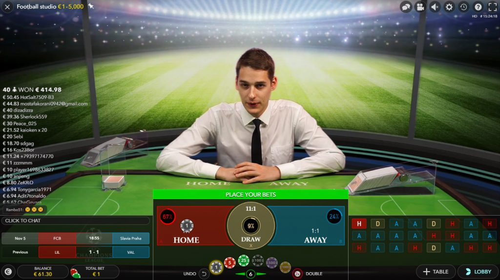 hagan sus apuestas live football studio