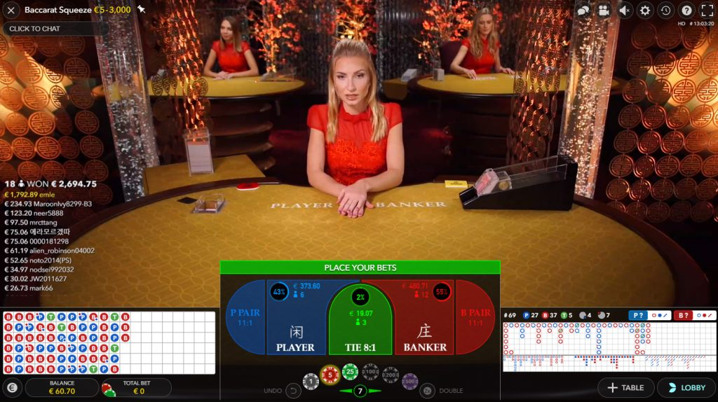 baccarat squeeze evolution