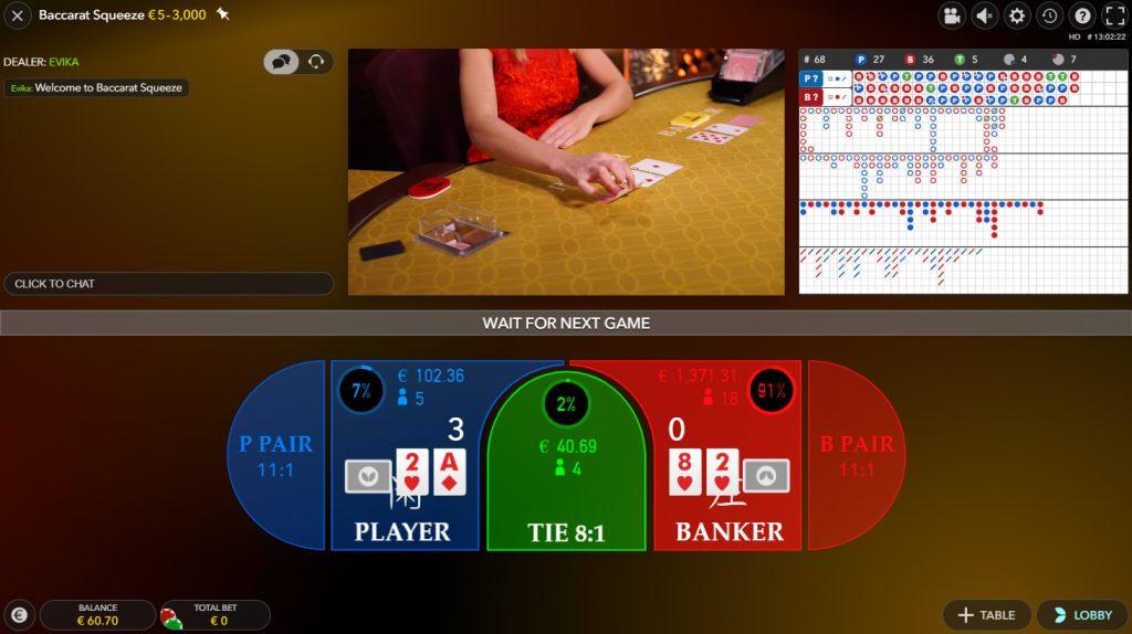 baccarat squeeze casino en direct