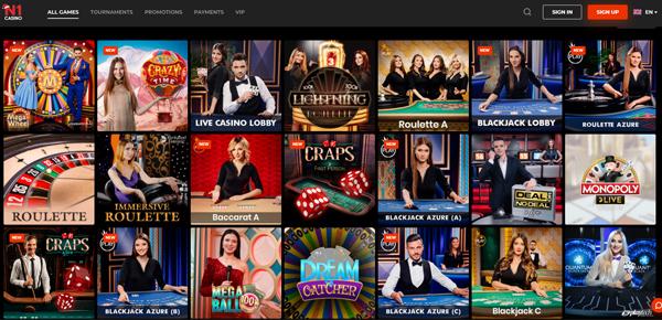 Alle Live Casino Spielen sind da