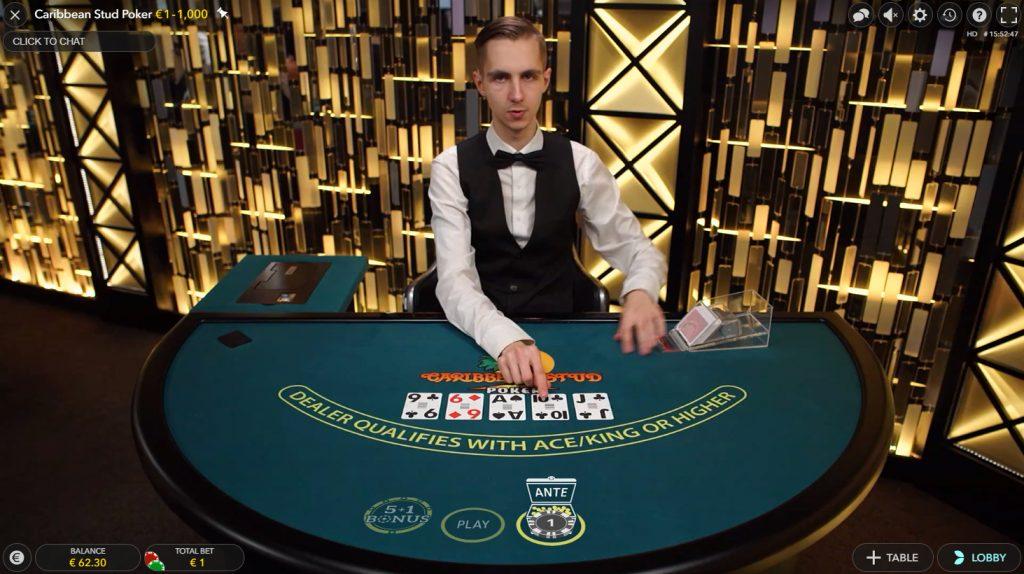 Caribbean Stud Poker ao Vivo