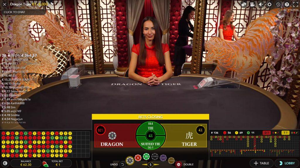 Dragon Tiger ao Vivo casino