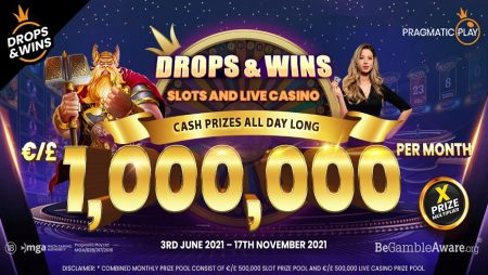 Pragmatic Play Extends Its Slots Drops & Wins Promo to Live Casino Games, Giving Away a Total of €/£1,000,000!