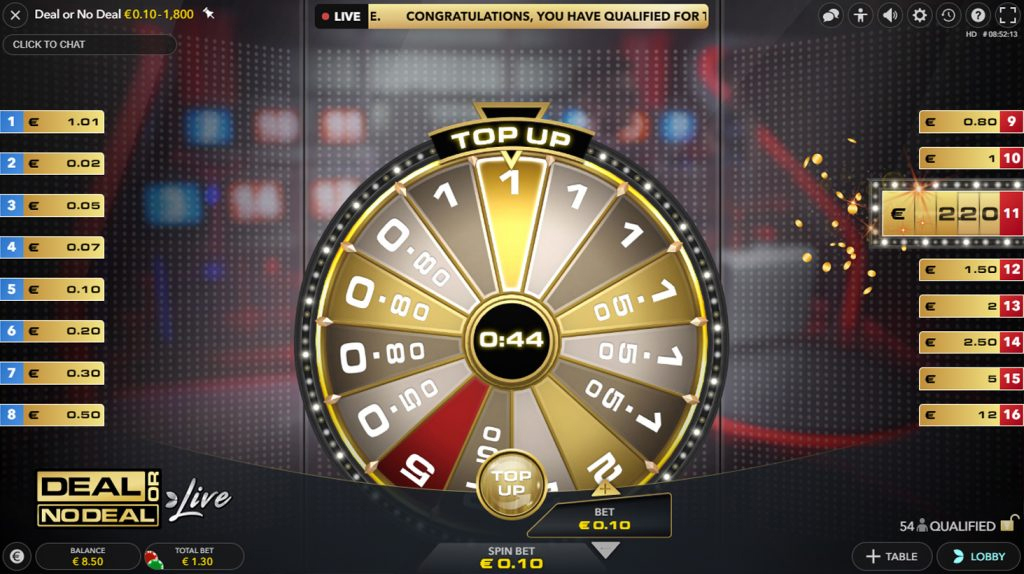 deal or no deal live casino