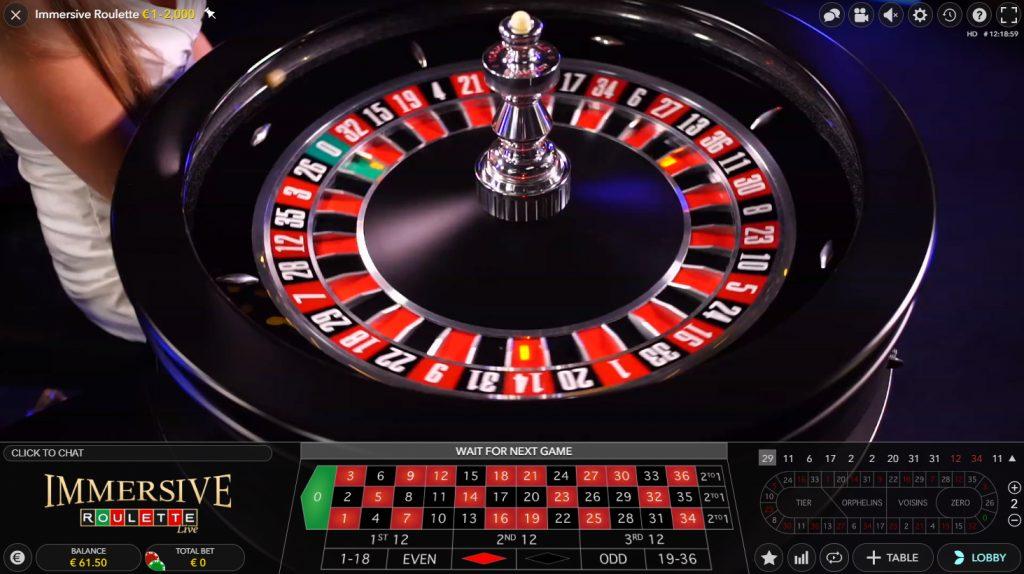 immersive roulette live casino