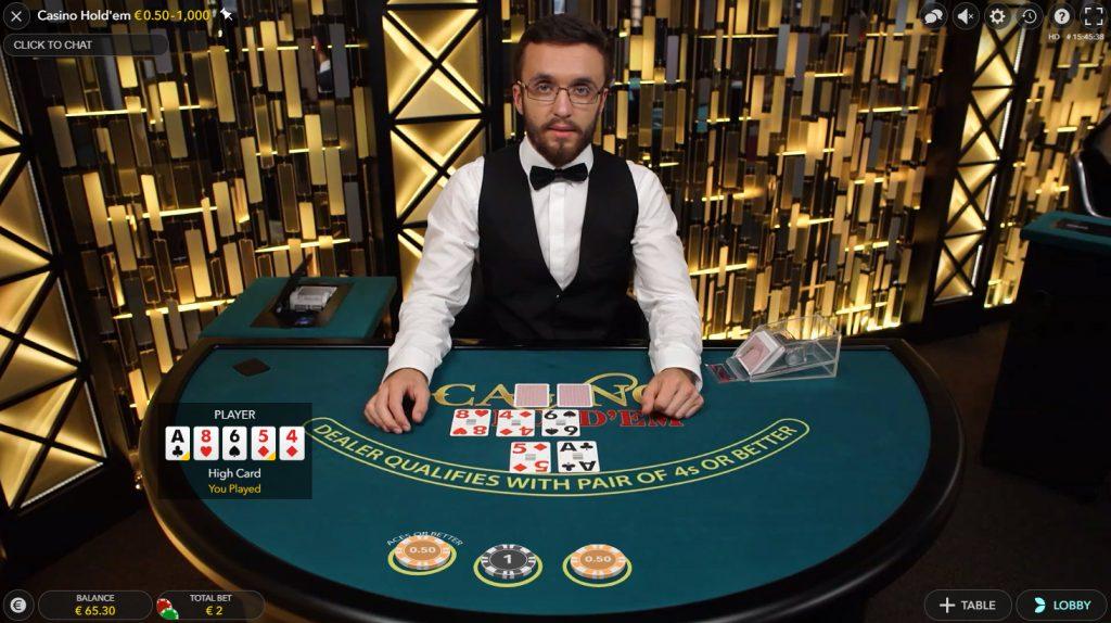 Live Casino Hold'em Evolution gaming es