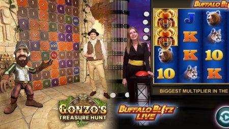 Gonzo's Treasure Hunt & Buffalo Blitz Live Compared