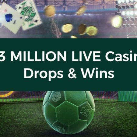 €3 Million for Grabs in Mr Green's Live Casino Drops & Wins Promo