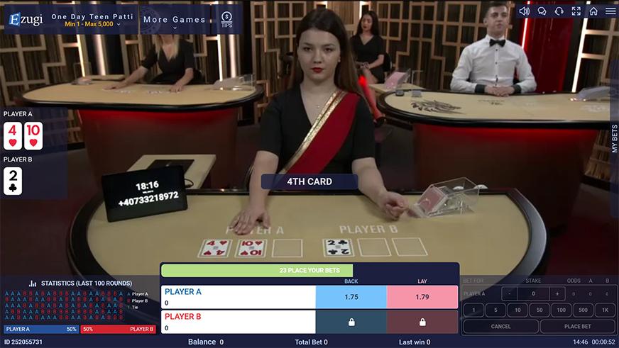 Ezugi Debuts Live Poker Variant Named One Day Teen Patti Classic