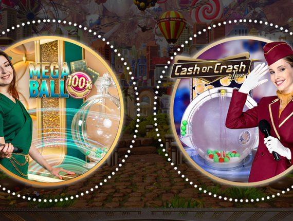Cash or Crash en Mega Ball van Evolution vergeleken