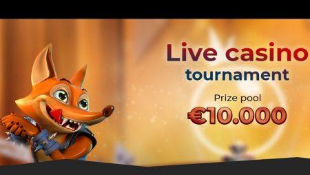 Crazy Fox Casino Invites You to Participate in the €10,000 Live Casino Tournament!